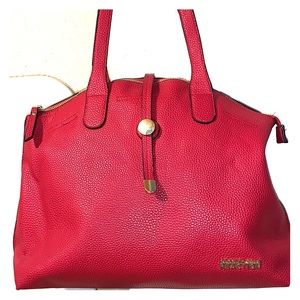 Red Leather Kenneth Cole Reaction Purse